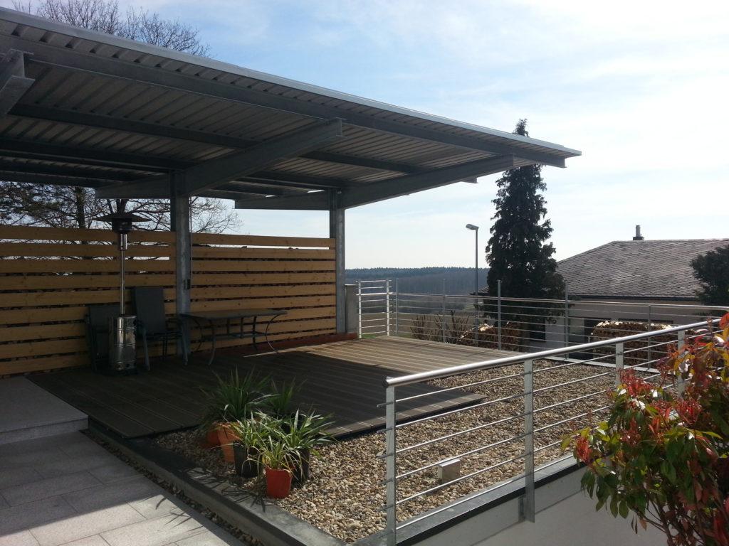 Carport – Garage – Terrasse – Architektin Moore